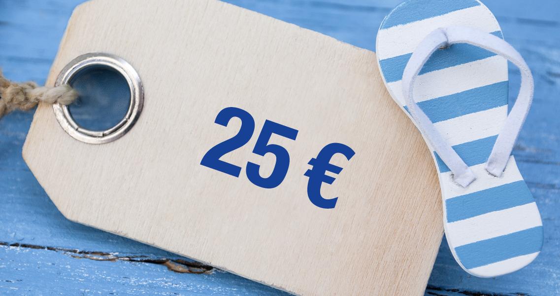 Wertgutschein 25,00 Euro
