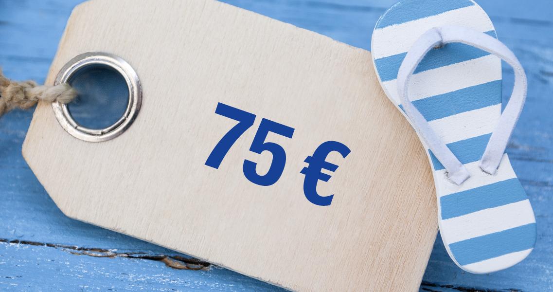 Wertgutschein 75,00 Euro