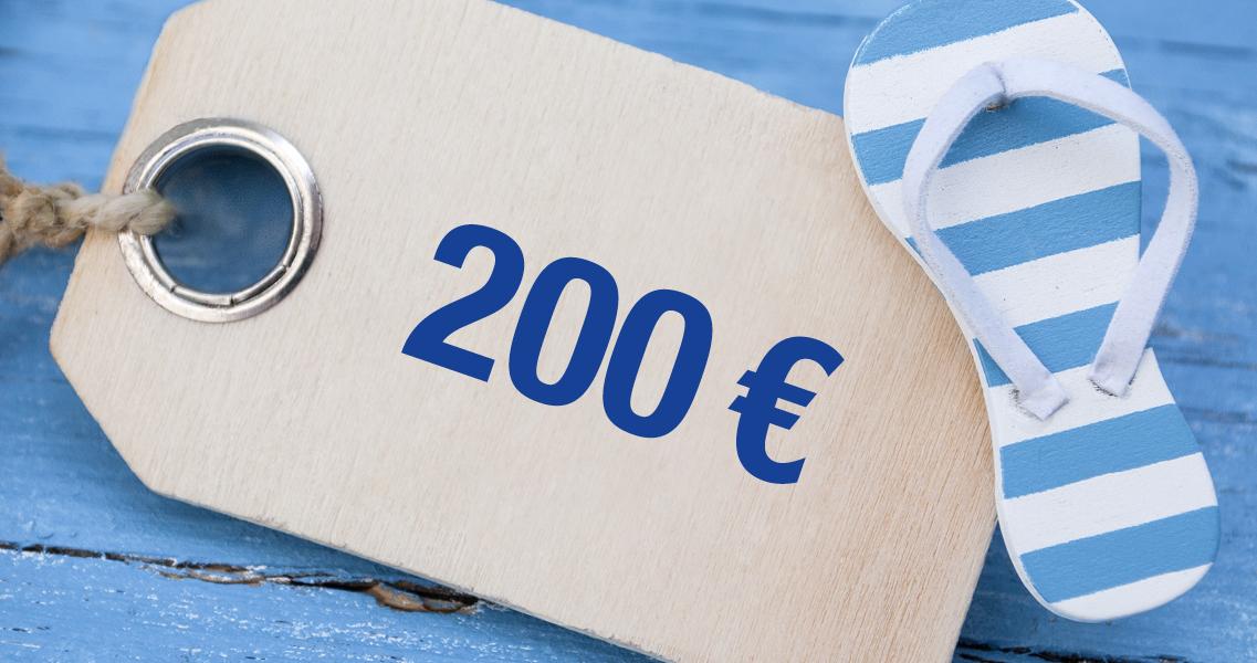 Wertgutschein 200,00 Euro